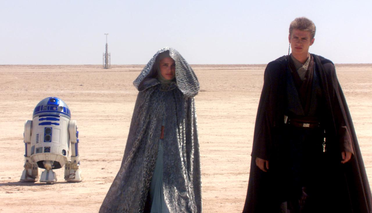 "<p>George Lucas's prequel trilogy isn't short on problems, but few are as glaring as the nonexistent chemistry between Natalie Portman's regal Queen Amidala and Hayden Christensen's petulant Anakin Skywalker. Epitomized by the latter's <a rel=""nofollow"" href=""https://www.youtube.com/watch?v=2tLf1JO5bvE"">diatribe against sand</a>, their romance lacks a single spark or even a sense that the two feel much of anything <span>— </span>other than annoyance at having to recite such awful dialogue in front of endless green screens. (Photo: 20th Century Fox/courtesy Everett Collection) </p>"