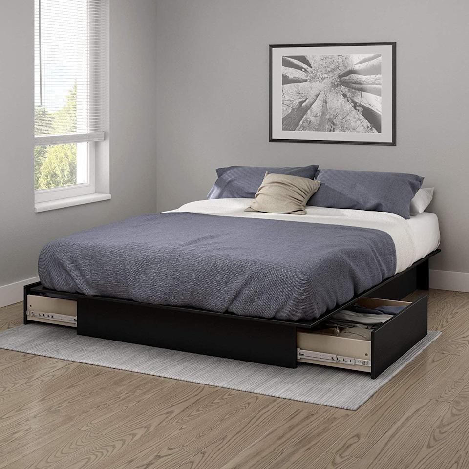 <p>Out of closet space? Get this <span>South Shore Gramercy Platform Bed</span> ($239).</p>