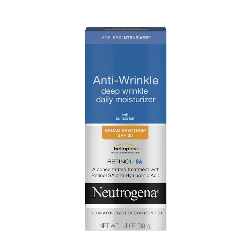 """<p><strong>Neutrogena</strong></p><p>walmart.com</p><p><strong>$15.47</strong></p><p><a href=""""https://go.redirectingat.com?id=74968X1596630&url=https%3A%2F%2Fwww.walmart.com%2Fip%2F11550185&sref=https%3A%2F%2Fwww.goodhousekeeping.com%2Fbeauty%2Fanti-aging%2Fg34520642%2Fbest-collagen-creams%2F"""" rel=""""nofollow noopener"""" target=""""_blank"""" data-ylk=""""slk:Shop Now"""" class=""""link rapid-noclick-resp"""">Shop Now</a></p><p>Made with both <a href=""""https://www.goodhousekeeping.com/beauty/anti-aging/a32497174/what-is-retinol/"""" rel=""""nofollow noopener"""" target=""""_blank"""" data-ylk=""""slk:collagen-stimulating retinol"""" class=""""link rapid-noclick-resp"""">collagen-stimulating retinol</a> and a protective vitamin C variant, Neutrogena's <a href=""""https://www.goodhousekeeping.com/institute/about-the-institute/a22148/about-good-housekeeping-seal/"""" rel=""""nofollow noopener"""" target=""""_blank"""" data-ylk=""""slk:Good Housekeeping Seal"""" class=""""link rapid-noclick-resp"""">Good Housekeeping Seal</a> star formula provides anti-aging effects, SPF, and hydration in one. In 12 weeks of use, <strong>97% of women saw a reduction in the look of fine lines</strong> after 12 weeks of use, GH Beauty Lab clinical data assessment confirmed.</p>"""