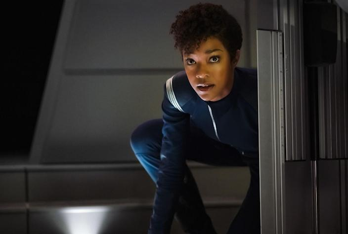 "Sonequa Martin-Green in ""Star Trek: Discovery."" <span class=""copyright"">(Jan Thijs / CBS )</span>"