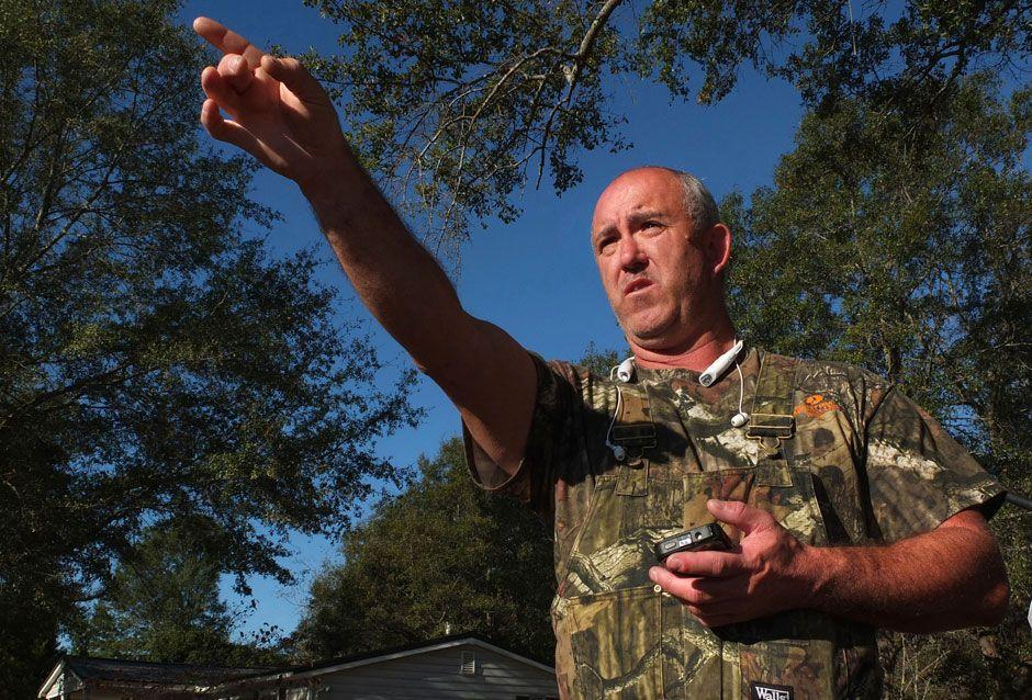 Scott Waldrop, who lives near the property owned by Todd Kohlhepp, talks about knowing him and talking with him on a number of occasions. Photo: AP
