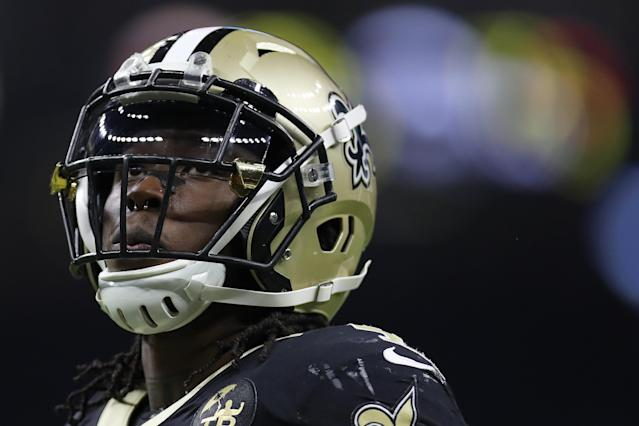 New Orleans Saints running back Alvin Kamara refused to take his nose ring out for another team's GM before the 2017 NFL draft. (Getty Images)