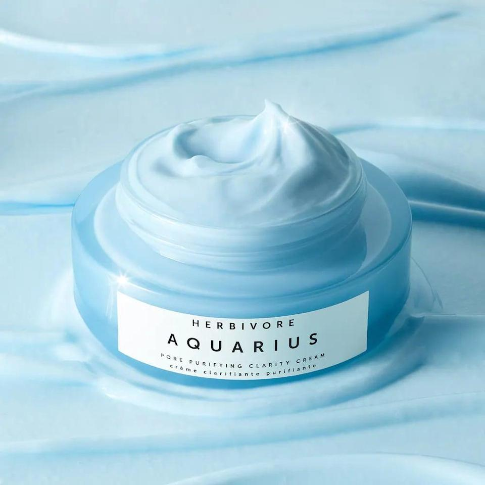 <p>Sensitive, blemish prone skin will drink up this <span>Herbivore Aquarius Pore Purifying BHA Cream</span> ($44). It has a very gentle exfoliant that will help balance out the skin.</p>