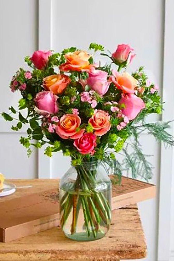"""<p><strong><a class=""""link rapid-noclick-resp"""" href=""""https://go.redirectingat.com?id=127X1599956&url=https%3A%2F%2Fwww.bloomandwild.com%2Fsend-flowers%2Fnow&sref=https%3A%2F%2Fwww.cosmopolitan.com%2Fuk%2Fworklife%2Fg26812477%2Fsame-day-flower-delivery-uk%2F"""" rel=""""nofollow noopener"""" target=""""_blank"""" data-ylk=""""slk:BUY NOW"""">BUY NOW </a>The Darcie, £43.00, Bloom & Wil</strong><strong>d</strong></p><p>As well as a <a href=""""https://www.cosmopolitan.com/uk/worklife/a26620029/florist-praised-mothers-day-marketing/"""" rel=""""nofollow noopener"""" target=""""_blank"""" data-ylk=""""slk:brilliant Mother's Day marketing campaign,"""" class=""""link rapid-noclick-resp"""">brilliant Mother's Day marketing campaign,</a> Bloom & Wild's same-day delivery offers 2-hour time slots to most of London, meaning your flowers will be quickly delivered (by bicycle or motorbike) and put through the letterbox of your recipient. Bouquets range from £35.00 to £67.00.</p>"""