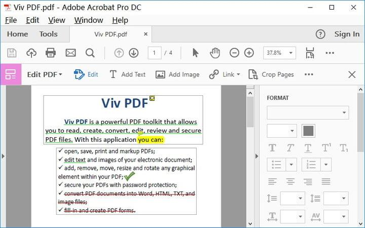 Pdf To Word How To Convert A Pdf To Word Adobe Acrobat Dc >> How To Edit A Pdf