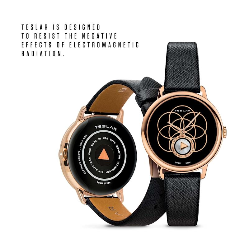 RE-BALANCE T-2 combines the philosophy of yoga with TESLAR technology. An IP rose gold