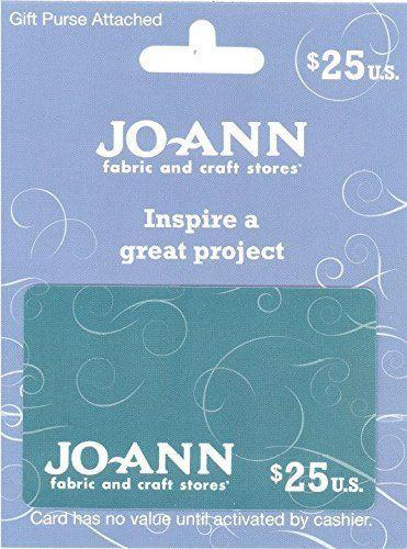 """<p><strong>Jo-Ann Stores</strong></p><p>amazon.com</p><p><a href=""""https://www.amazon.com/dp/B00VF0MCCS?tag=syn-yahoo-20&ascsubtag=%5Bartid%7C10050.g.25632110%5Bsrc%7Cyahoo-us"""" rel=""""nofollow noopener"""" target=""""_blank"""" data-ylk=""""slk:Shop Now"""" class=""""link rapid-noclick-resp"""">Shop Now</a></p><p>Is your recipient the crafty type? Then they'll love this gift card, which is good at any Jo-Ann Fabric and Craft Store.</p>"""