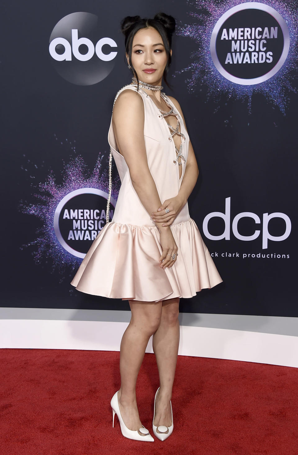 FILE - Constance Wu arrives at the American Music Awards on Nov. 24, 2019, in Los Angeles. Wu turns 39 on March 22. (Photo by Jordan Strauss/Invision/AP, File)