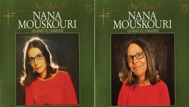 Gail Lawlor stands in for Nana Mouskouri in this recreated album cover.