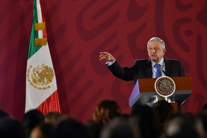 If Lopez Obrador keeps to his schedule, he will have held around 1,500 morning press conferences by the end of his six-year term (AFP Photo/Pedro PARDO)