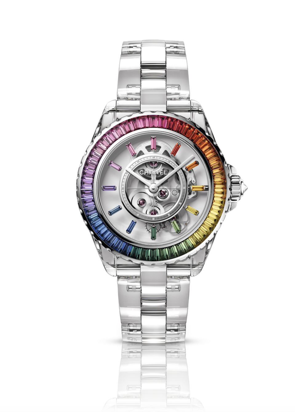 """<p><strong>Chanel</strong></p><p><a href=""""https://go.redirectingat.com?id=74968X1596630&url=https%3A%2F%2Fwww.chanel.com%2Fus%2Fwatches%2Fmanufacture-movement-watches%2F&sref=https%3A%2F%2Fwww.harpersbazaar.com%2Ffashion%2Ftrends%2Fg30515430%2Fbest-watch-brands-for-women%2F"""" rel=""""nofollow noopener"""" target=""""_blank"""" data-ylk=""""slk:Shop Now"""" class=""""link rapid-noclick-resp"""">Shop Now</a></p><p>The CHANEL watch collection launched in 1987 with the PREMIÈRE watch, whose design is inspired by the Place Vendome. In 2000, CHANEL released its famed J12 collection, marked by the use of ceramic as its core material, a choice that set it apart from its competitors. While originally only available in black, and a large success with Chanel customers, it hit its stride when it became available in all white in 2003. Since then, multiple iterations have been released by the storied French house. Most recently, the Electro capsule collection—influenced by the energy of electronic music—brought a new round of bold colors to the design. The model shown, J12 X-Ray Electo Caliber 3.1, is sapphire crystal and white gold with a gradient of 58 sapphire gemstones and is made in a limited edition of 12 pieces. </p>"""