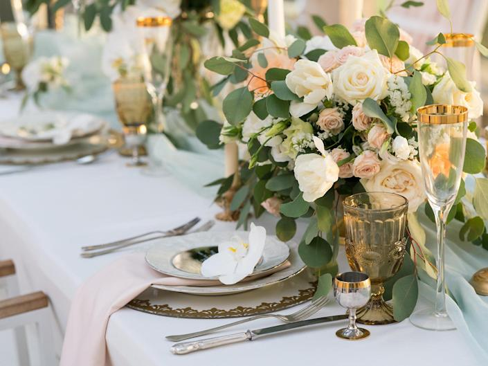 From centrepieces to glassware, dressing your wedding tables yourself takes just a few simple steps: iStock