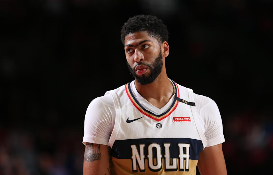 Anthony Davis is averaging 29.3 points, 13.3 rebounds, 4.4 assists and 2.6 blocks per game this season. (Getty)