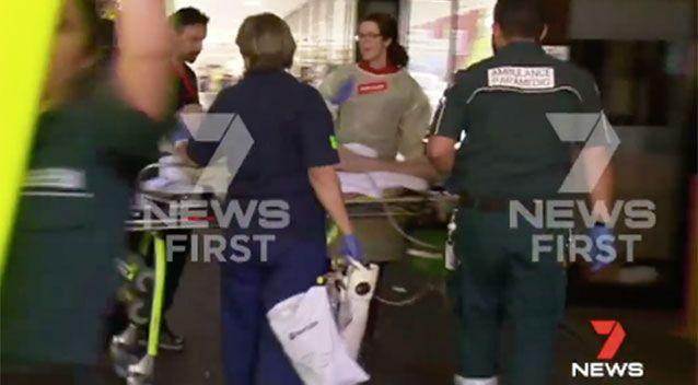 The man was taken to Royal Perth Hospital. Source: 7 News