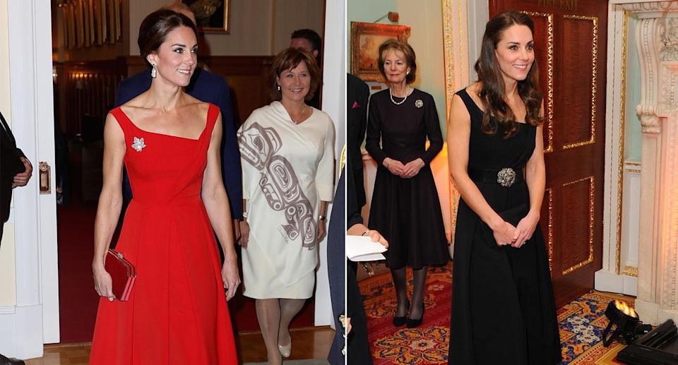 Kate owns a Preen dress in red and black [Photos: Getty]