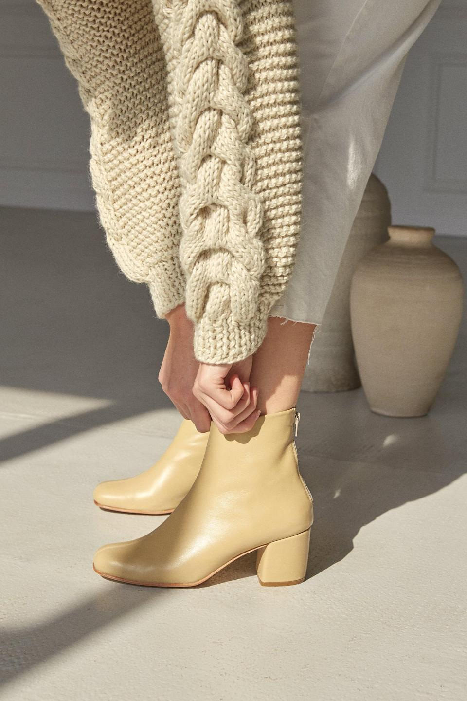 <p>These <span>Zouxou Beia Boots</span> ($310) are a fresh choice for spring.</p>