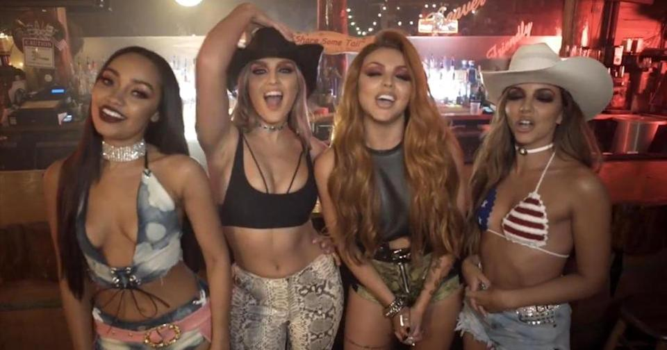 Little Mix announced the new release of their single No More Sad Songs on Facebook (Copyright: Facebook/Little Mix)