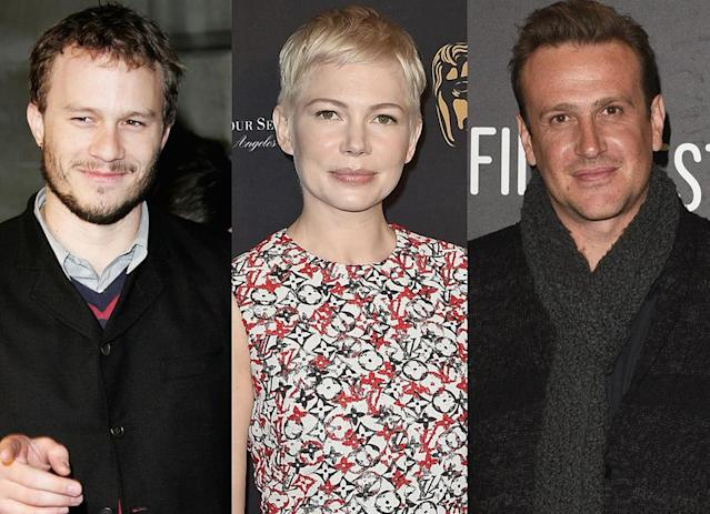 Heath Ledger, left, Michelle Williams, and Jason Segel (Photo: Getty Images)