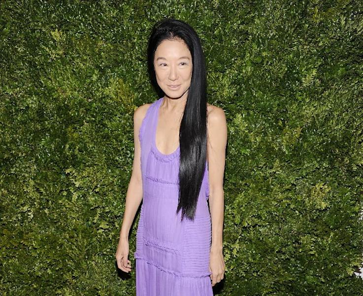 "FILE - This Nov. 14, 2011 file photo shows fashion designer Vera Wang attending the CFDA / Vogue Fashion Fund Awards in New York. Wang, who launched her label with wedding gowns, is separating from her husband Arthur Becker. A statement was issued to Women's Wear Daily earlier this week from company president Mario Grauso that said Wang and Becker ""mutually and amicably agreed to separate."" The couple married in 1989, when she still worked for Ralph Lauren. They have two daughters. (AP Photo/Evan Agostini, file)"