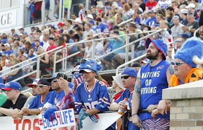 Bills fans have support in high places in the state of New York. (AP)