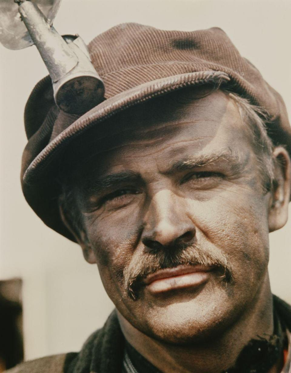 <p>Connery as in Irish miner in the film <em>The Molly Maguires</em>, 1970. </p>