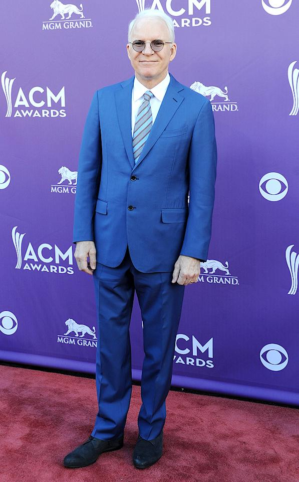 "<p class=""MsoNormal"">With his goofy glasses and blue suit, Steve Martin looked more comedian than country.</p>"