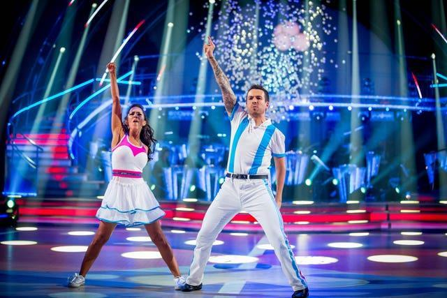 Bayley (right) was injured whilst appearing in Strictly Come Dancing