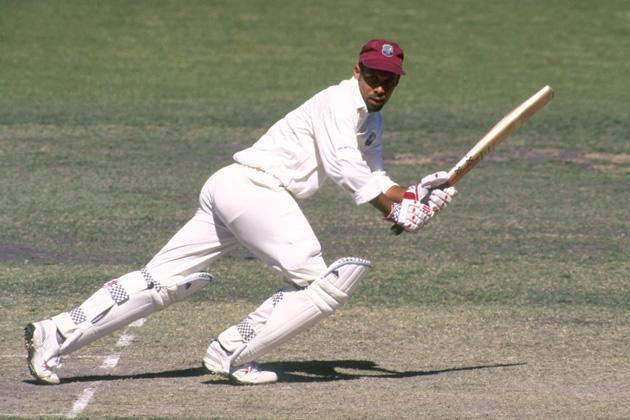 9 Dec 1996:  Jimmy Adams of the West Indies in action during the Prime Ministers eleven versus the West Indies in Canberra, Australia. Mandatory Credit: Shaun Botterill/Allsport