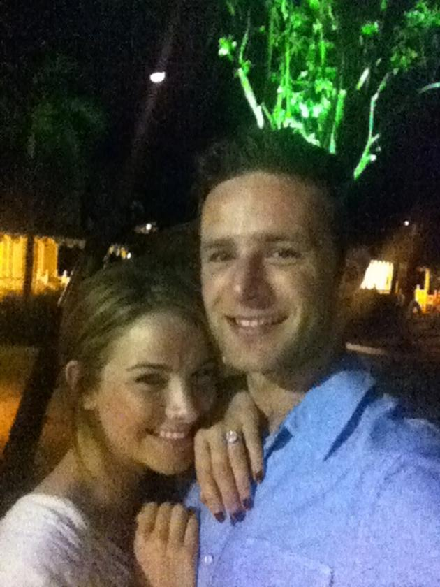 "Celebrity photos: McFly's Harry Judd has become the second member of the band to pop the question to his long-term girlfriend. He announced the news on Twitter, saying: ""Couldn't be happier! My beautiful @izzyeyesalight and I are engaged! Thank you to @rendezvoushotel for making it so special! I liked it, so I put a ring on it. #engaged"" [sic] This cute picture of the newly-engaged couple followed."