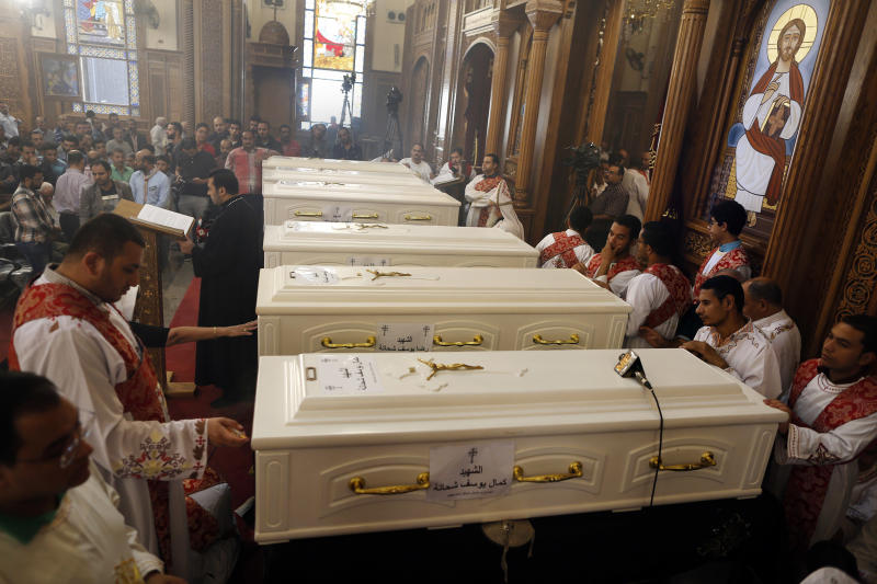 Pope expresses 'pain' over attack on Coptic Christians class=
