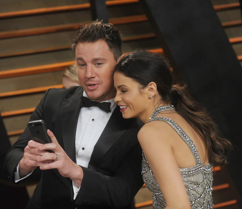 WEST HOLLYWOOD, CA - MARCH 02: Channing Tatum_Jenna Dewan attends the 2014 Vanity Fair Oscar Party hosted by Graydon Carter on March 2, 2014 in West Hollywood, California. People: Channing Tatum_Jenna Dewan Credit: Hoo-Me.com / MediaPunch/IPX