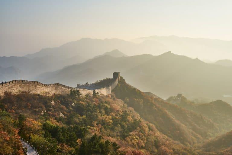 Misty Great Wall of China