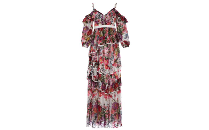 """If you've never window shopped Needle and Thread's website then you're missing a right treat, as the dress extraordinaire is the go-to spot for all things wedding guest attire. Catch you there? <a href=""""https://www.needleandthread.com/uk/all-wedding/wedding-guest/midsummer-shimmer-gown-ivory"""" rel=""""nofollow noopener"""" target=""""_blank"""" data-ylk=""""slk:Shop now"""" class=""""link rapid-noclick-resp""""><em>Shop now</em></a>."""