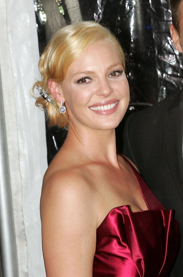"""After testing out a darker brunette 'do earlier this year, Katherine Heigl finally returned to her naturally blond roots last month while promoting her new rom-com """"Life As We Know It."""" The actress went several shades lighter than we're used to, however, with streaks of shiny platinum. Still, it looks retro-glamorous -- like the Heigl we know and love (or love to hate). Jim Spellman/<a href=""""http://www.wireimage.com"""" target=""""new"""">WireImage.com</a> - September 30, 2010"""
