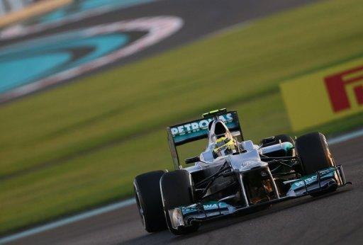 Mercedes driver Nico Rosberg, pictured in practice on Saturday, was fortunate to walk away unscathed after a massive crash with Navain Karthikeyan's Hispania in the Abu Dhabi Grand Prix here on Sunday