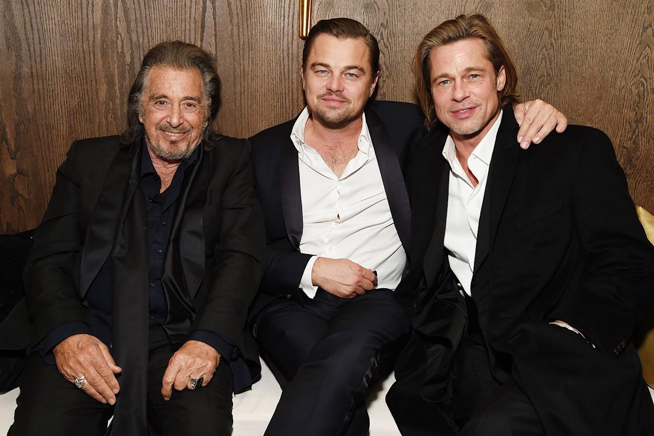 Look at these legends! Al Pacino, Leonardo DiCaprio and Brad Pitt chat at the Netflix SAG After Party.