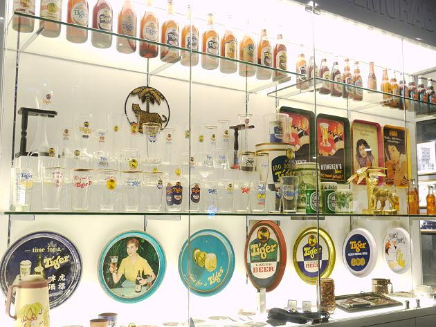 The cabinet showcases medals Tiger Beer has won over the years. (Yahoo! Singapore/ Deborah Choo)