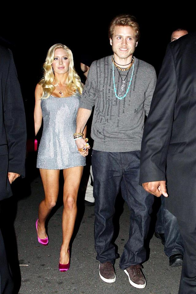 "Also in attendance ... reality star Spencer Pratt and his surgically-enhanced hot mess of a wife, Heidi. David Tonnessen/<a href=""http://www.pacificcoastnews.com/"" target=""new"">PacificCoastNews.com</a> - February 18, 2010"