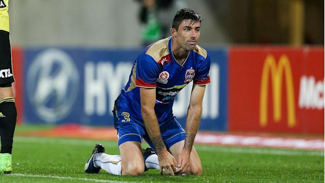 The defender's body seemed to betray him at the crucial moment as the Jets were soundly humbled in Wellington