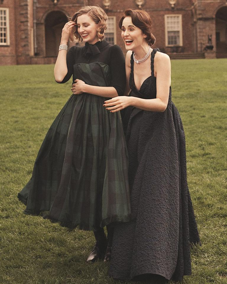 """<p>Michelle Dockery, Allen Leech, and Laura Carmichael star in <em>Town & Country</em>'s October 2019 issue, <a href=""""https://www.townandcountrymag.com/leisure/arts-and-culture/a28917257/michelle-dockery-allen-leech-laura-carmichael-downton-abbey-movie-cast-interview-2019/"""" target=""""_blank"""">opening up on</a> what it was like to return to <em>Downton Abbey</em><em> </em>for the new film.<em> </em>They gathered at the beautiful Castle Hill on the Crane Estate in Ipswich, Massachusetts for our cover shoot, which was inspired by <a href=""""https://www.townandcountrymag.com/leisure/travel-guide/a28637143/real-life-downton-abbey-highclere-castle-travel-guide/"""" target=""""_blank"""">Highclere Castle</a>, the real-life estate, which serves as the backdrop of the movie. <em></em>Read on for exclusive behind-the-scenes photos from the day, which were shot by photographer Tom Schirmacher and styled by Anne Christensen.<em></em></p>"""