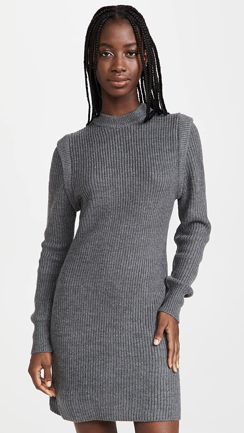 <p>This <span>Wayf Lombard Mock Neck Sweater Dress</span> ($75) is one you'll always be happy to have in your closet. We love the mock neck and slight shoulder embellishment.</p>