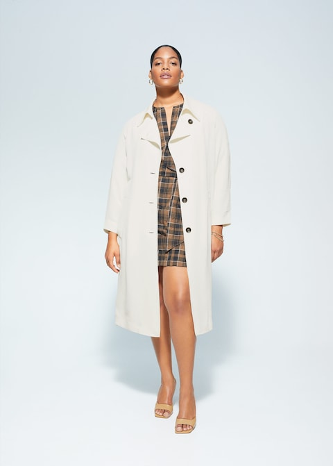 """A classic, yet elevated trench is a must in any woman's closet — mom or not. <br><br><strong>Violeta By Mango</strong> Plus-Size Belt Gabardine Trench, $, available at <a href=""""https://go.skimresources.com/?id=30283X879131&url=https%3A%2F%2Fshop.mango.com%2Fus%2Fplus-size%2Fcoats-trenchs%2Fbelt-gabardine-trench_67055703.html"""" rel=""""nofollow noopener"""" target=""""_blank"""" data-ylk=""""slk:Mango"""" class=""""link rapid-noclick-resp"""">Mango</a>"""