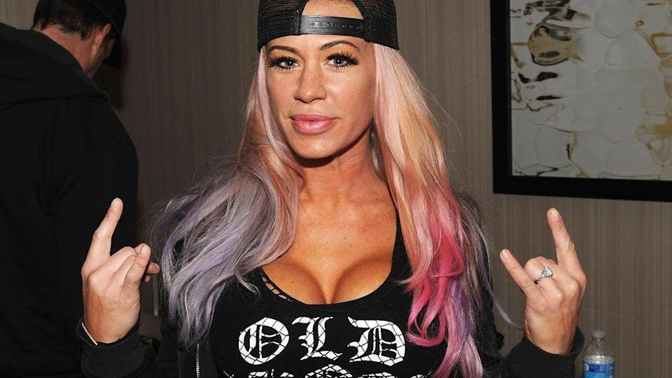 Ashley Massaro in 2015.  (Photo by Bobby Bank/Getty Images)