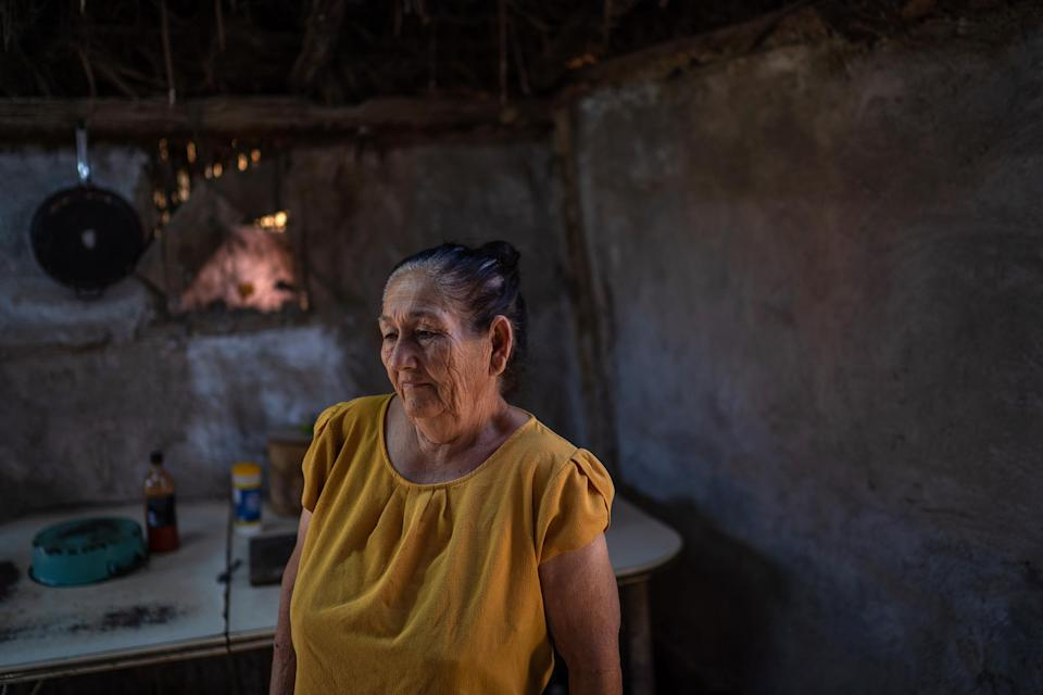 Image: Hilda Hurtado Valenzuela, 68 years old and president of the Sociedad Cooperativa Pueblo Ind?gena Cucap?, one of the associations that groups together people still engaged in fishing, in Baja California, Mexico, April 2021. (Alejandro Cegarra)