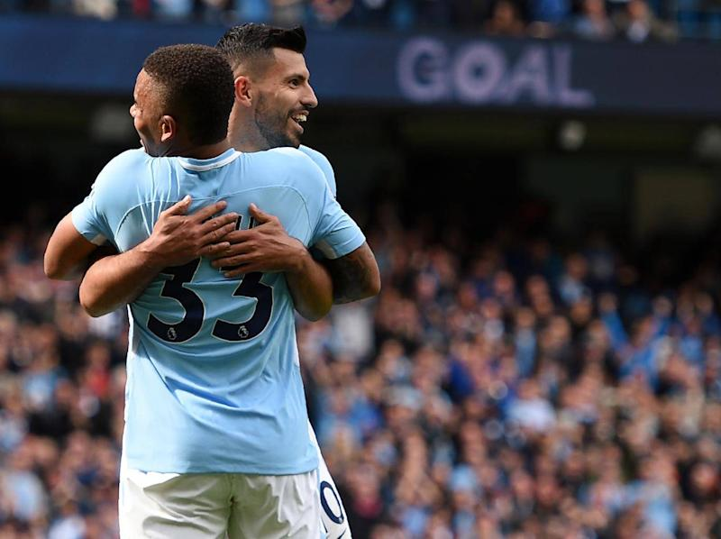 Aguero and Jesus have worked well with one another this season (Getty)