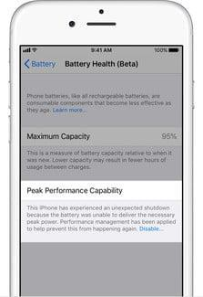 how to turn off iphone performance throttling in ios 11 3 applied