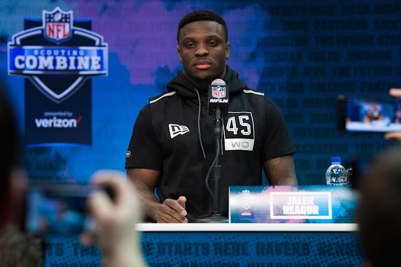 TCU WR Jalen Reagor didn't hold back when asked about the 40-yard dash. (Photo by Zach Bolinger/Icon Sportswire via Getty Images)