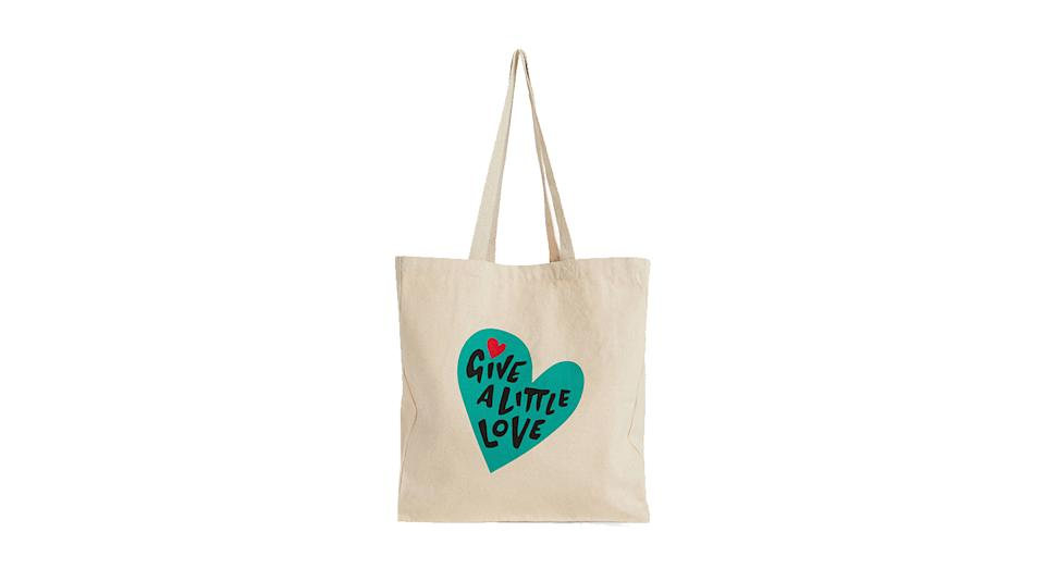 Give a Little Love Cotton Tote Bag