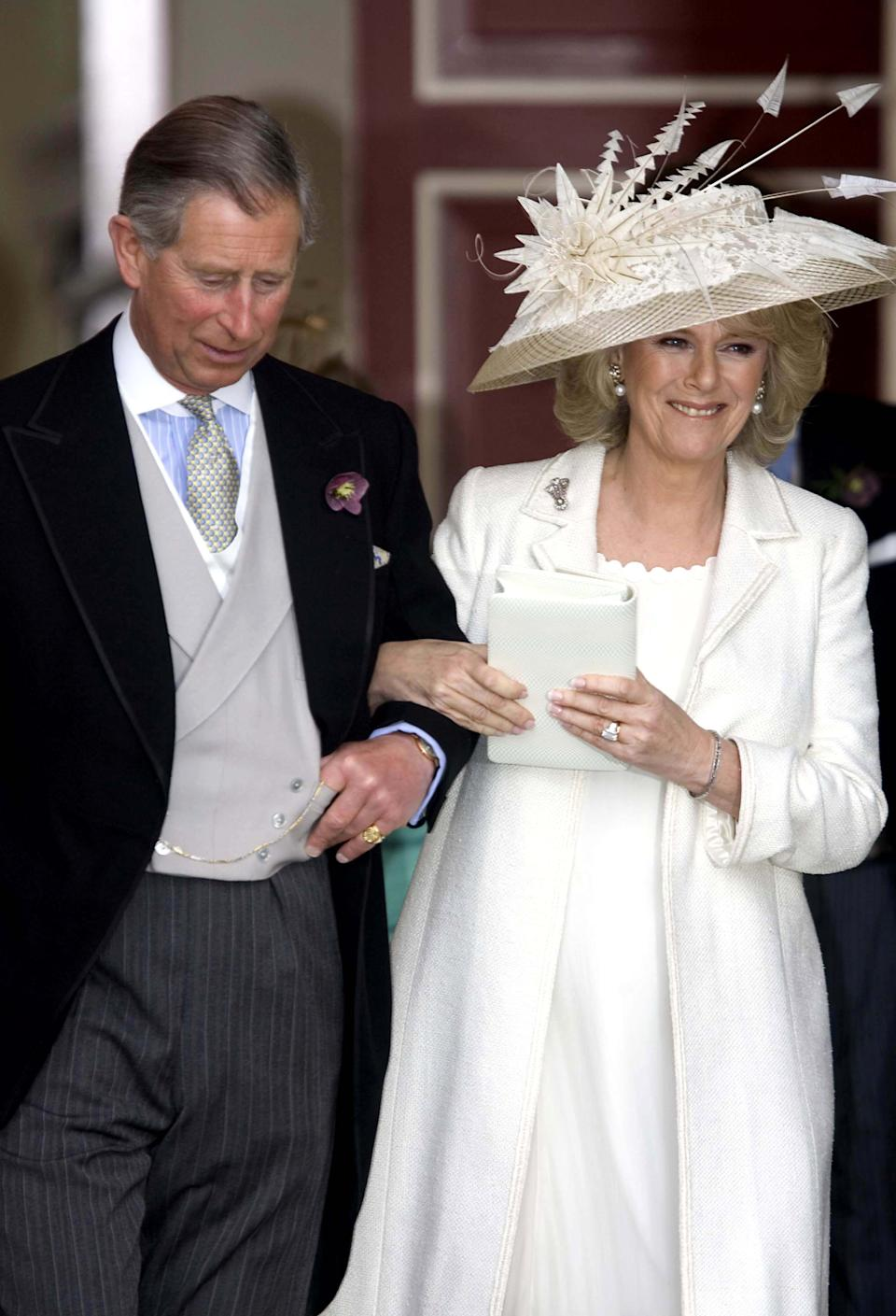<p>Believe it or not, Camilla has reworn her wedding dress. In 2007 she brought back one of the dresses she wore on her wedding day in 2005 - so if it's still in her wardrobe, perhaps we will see it again at Ascot. (Anwar Hussein Collection/ROTA/WireImage)</p>