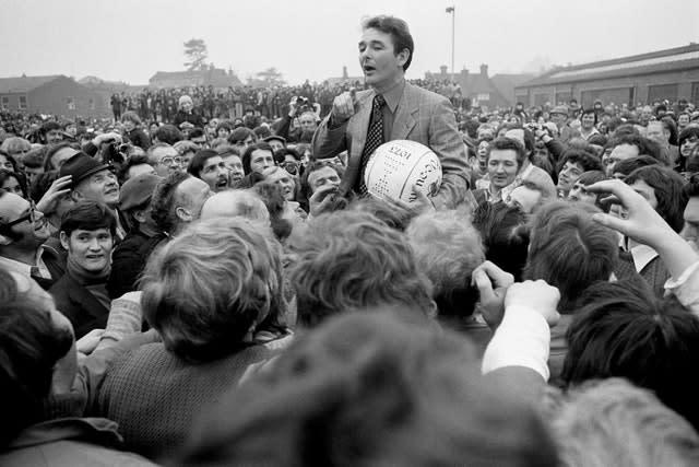 Clough was hugely popular with fans (PA)